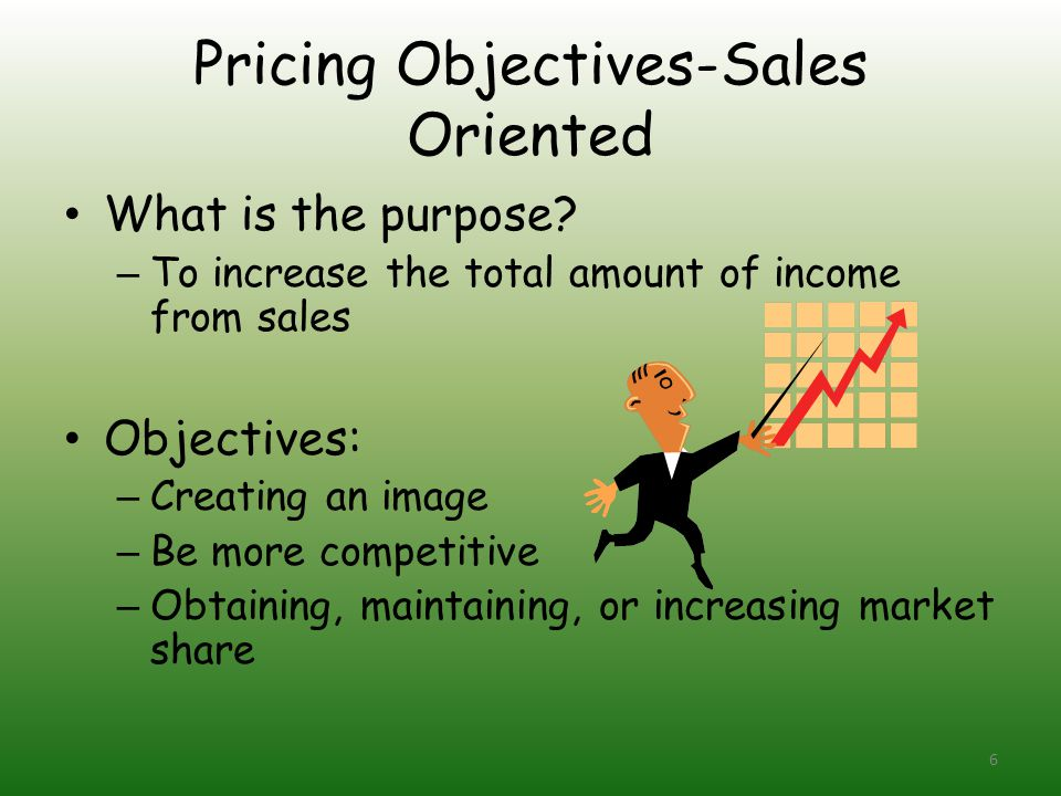 Pricing Objectives-Sales Oriented