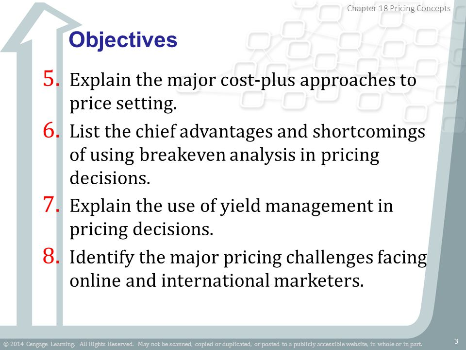 Objectives Explain the major cost-plus approaches to price setting.