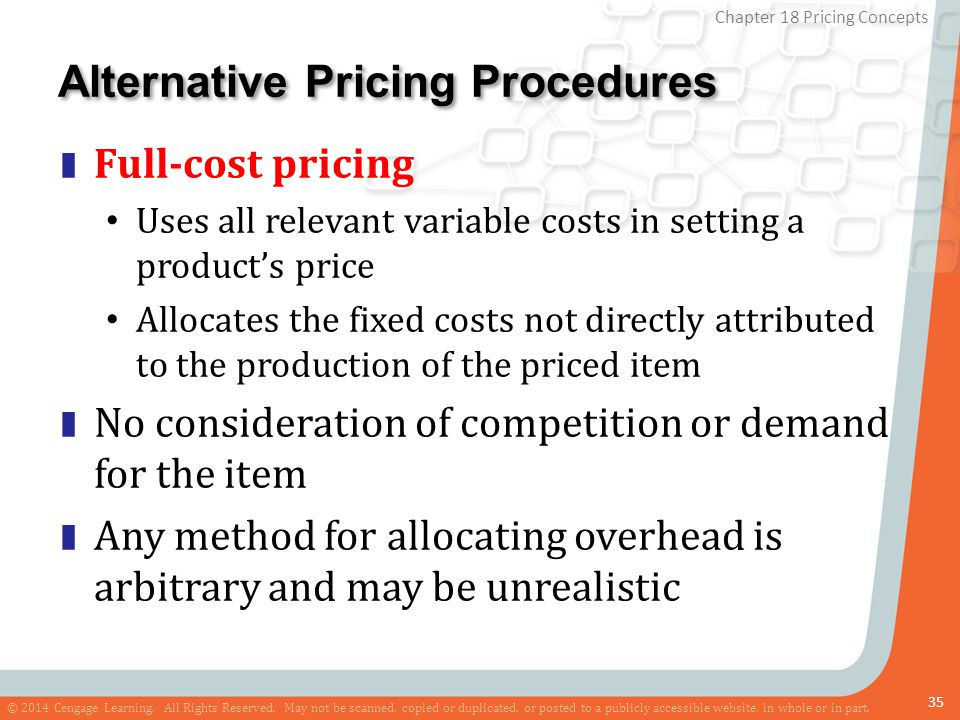 Alternative Pricing Procedures