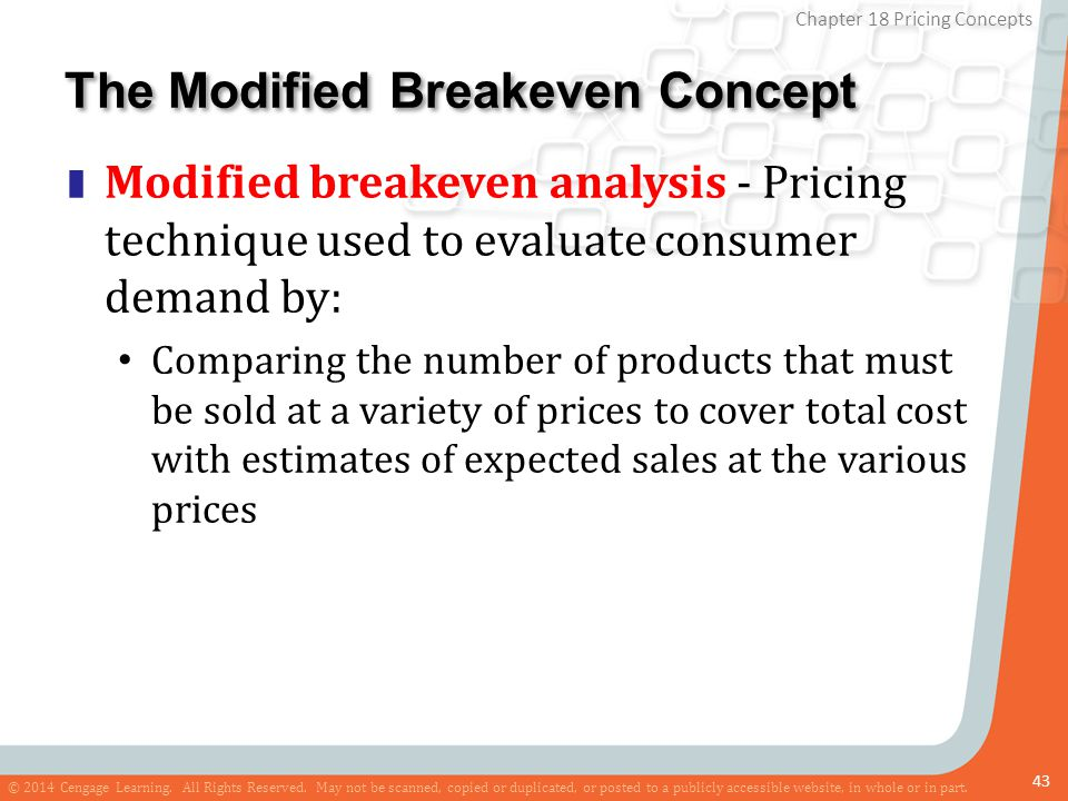 The Modified Breakeven Concept