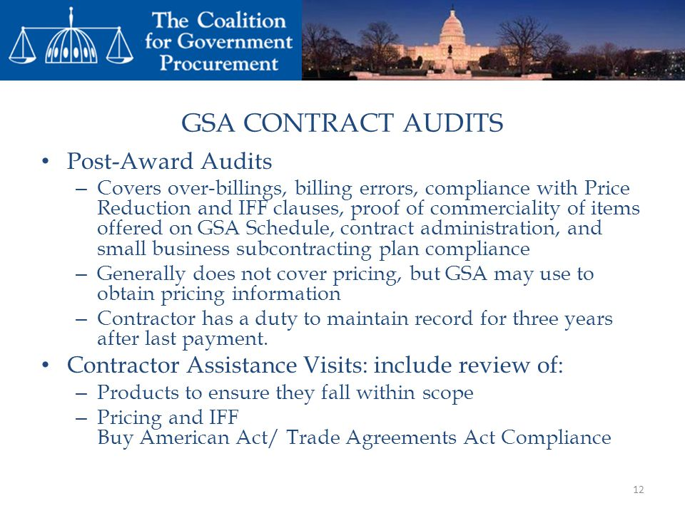GSA CONTRACT AUDITS Post-Award Audits