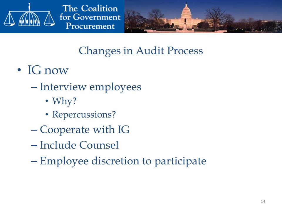 Changes in Audit Process