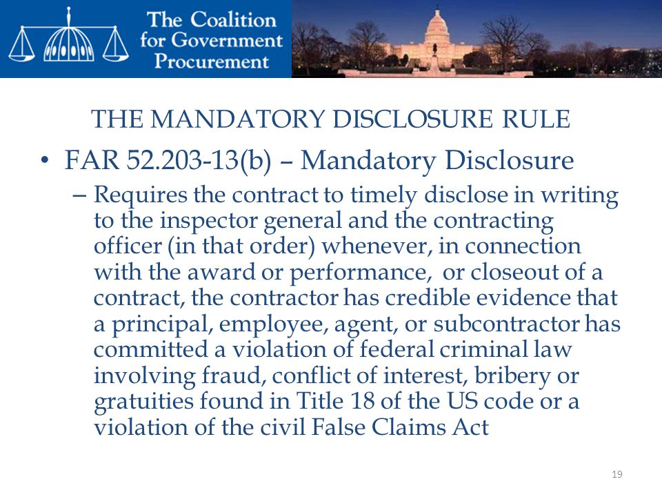 THE MANDATORY DISCLOSURE RULE