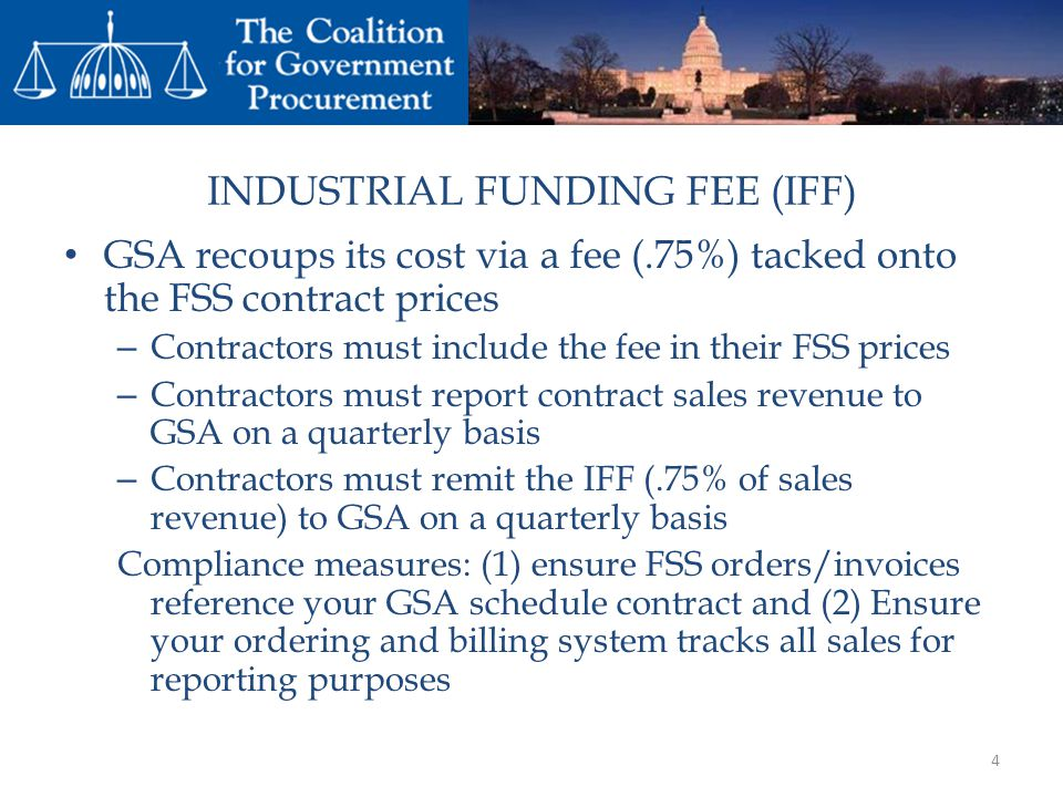 INDUSTRIAL FUNDING FEE (IFF)