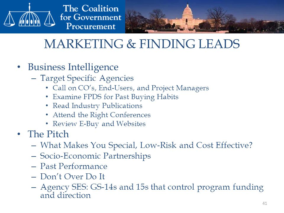 MARKETING & FINDING LEADS