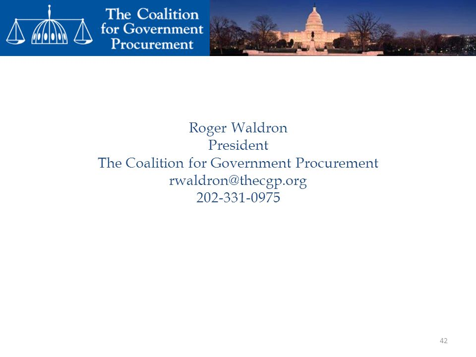 The Coalition for Government Procurement