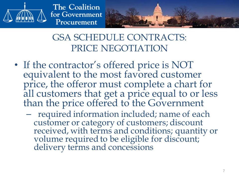 GSA SCHEDULE CONTRACTS: PRICE NEGOTIATION