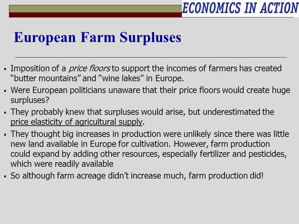 European Farm Surpluses