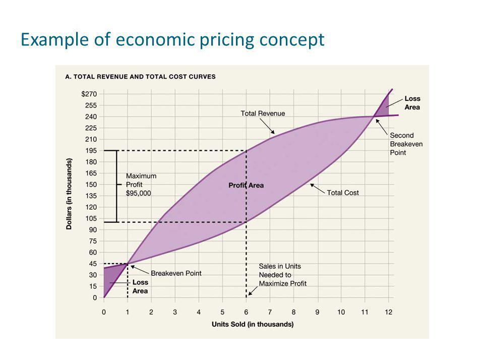 Example of economic pricing concept