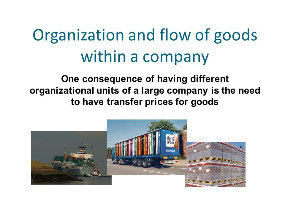 Organization and flow of goods within a company