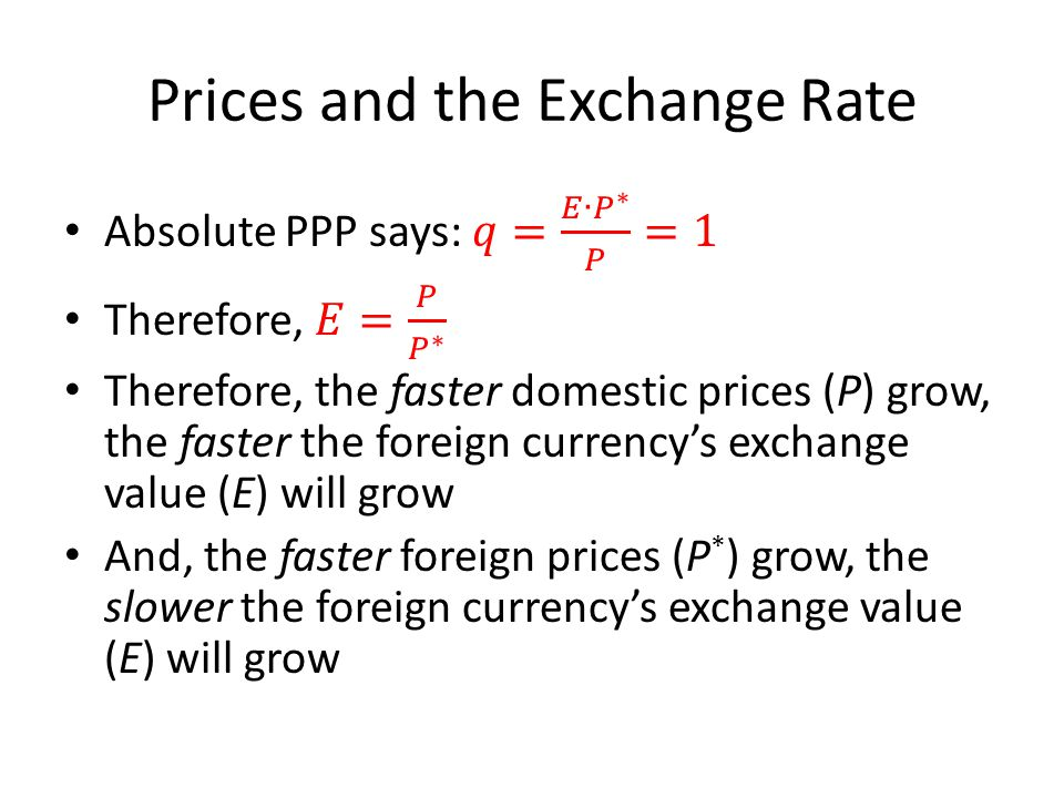Prices and the Exchange Rate