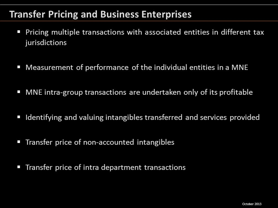 Transfer Pricing and Business Enterprises