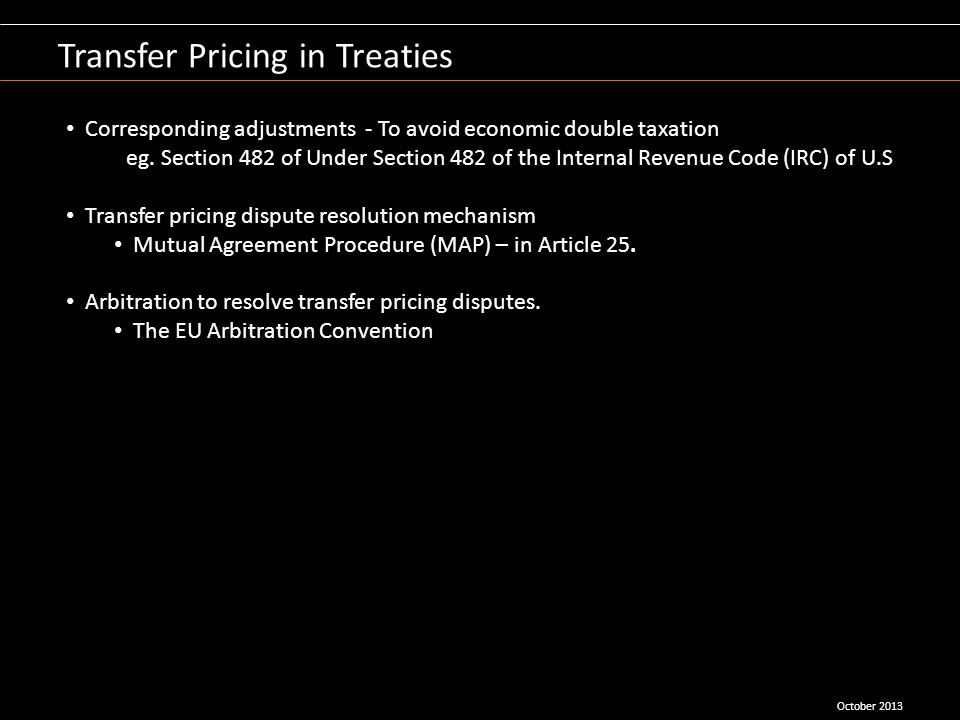Transfer Pricing in Treaties