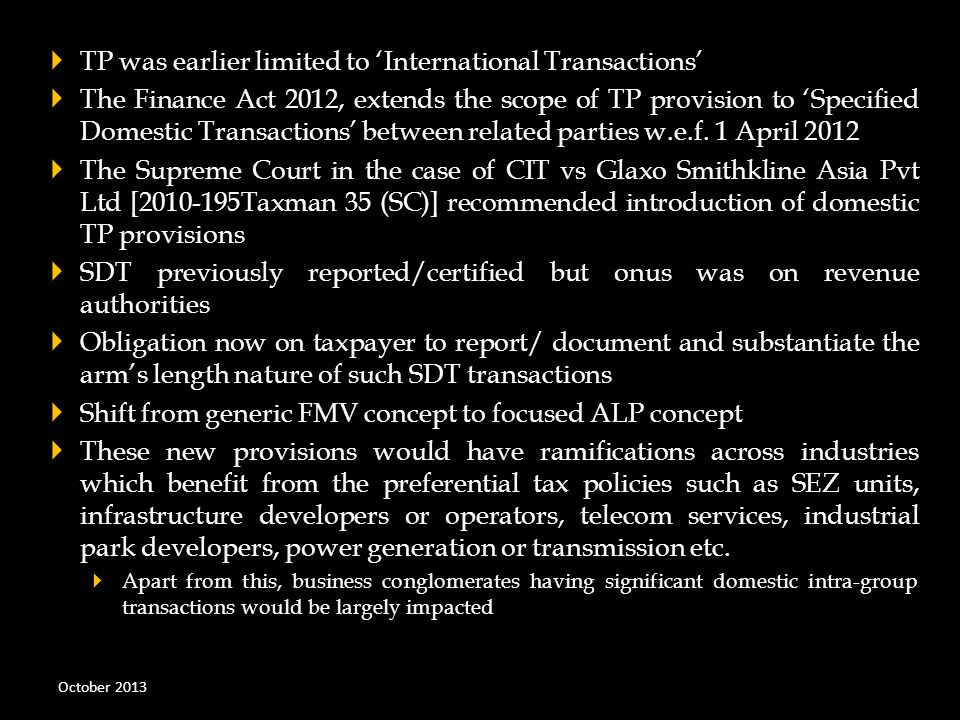 TP was earlier limited to 'International Transactions'