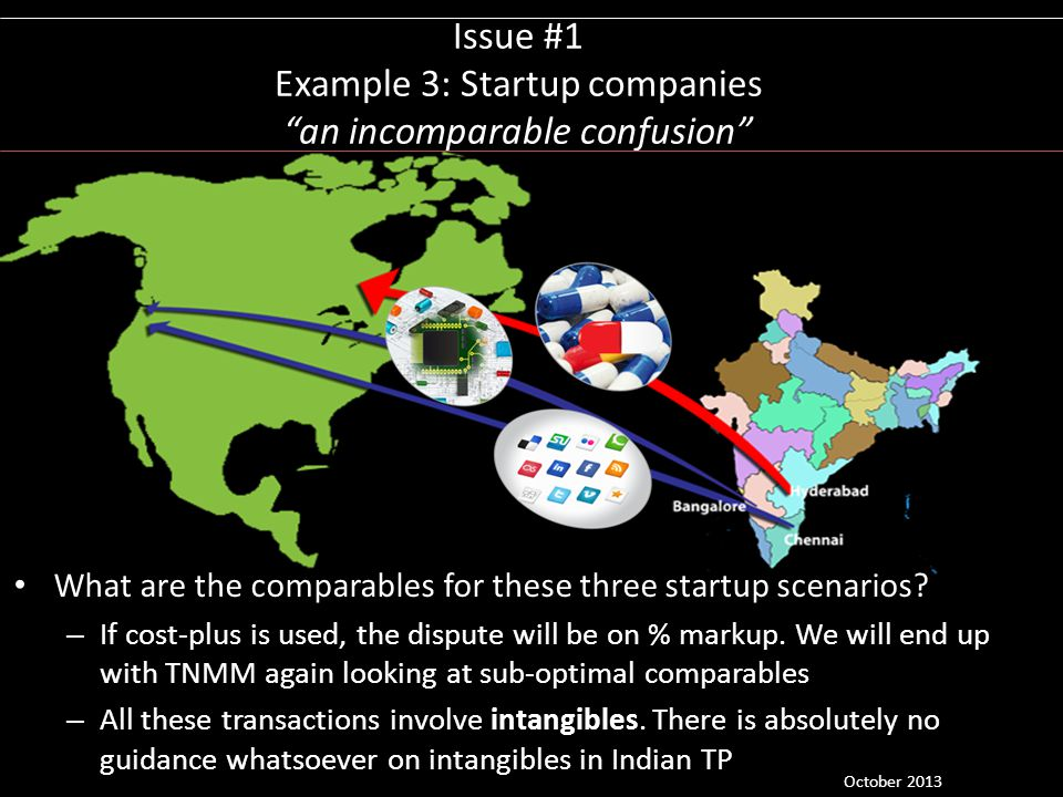 Issue #1 Example 3: Startup companies an incomparable confusion