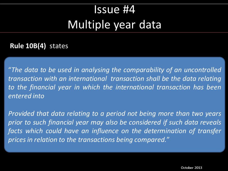 Issue #4 Multiple year data