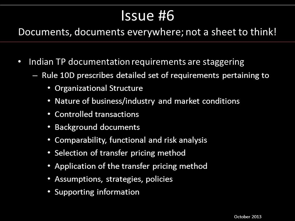 Issue #6 Documents, documents everywhere; not a sheet to think!