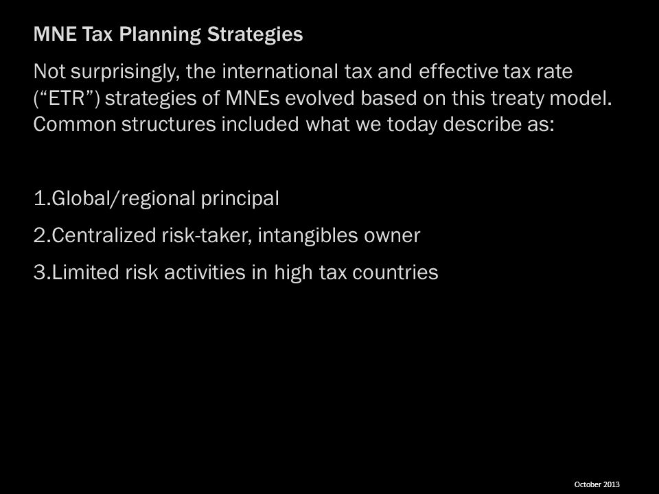 MNE Tax Planning Strategies
