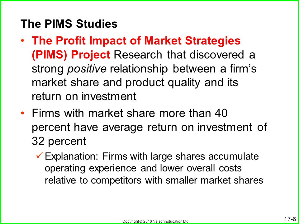 The PIMS Studies