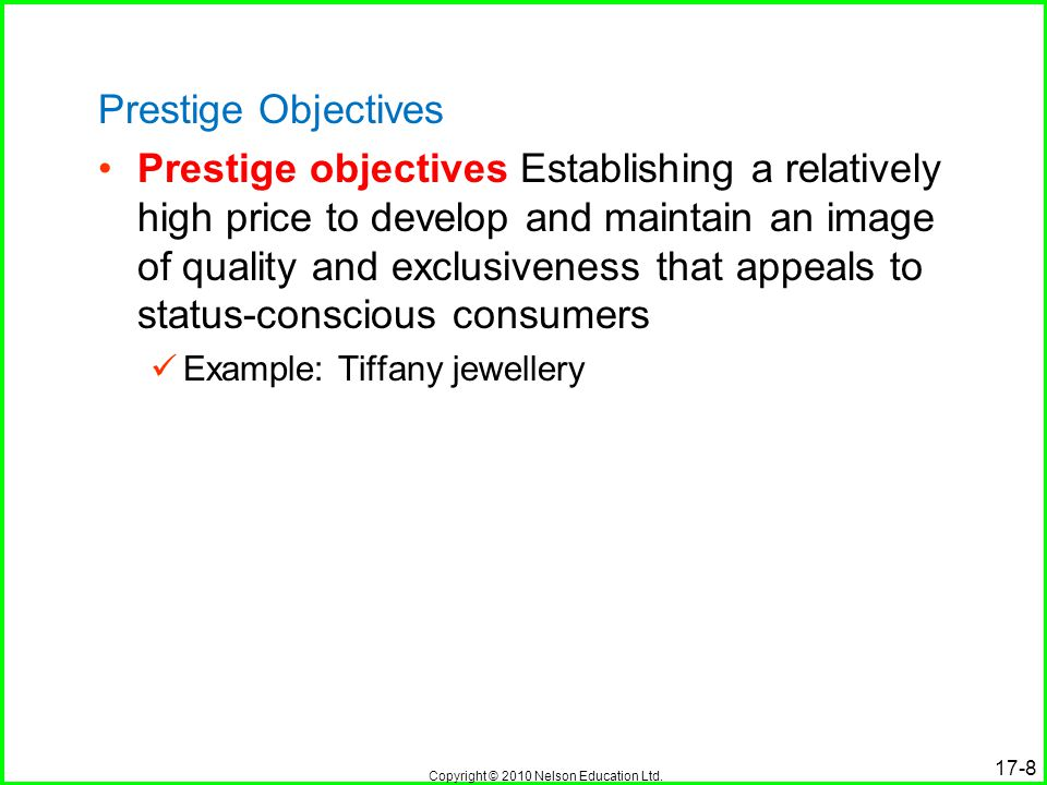 Prestige Objectives