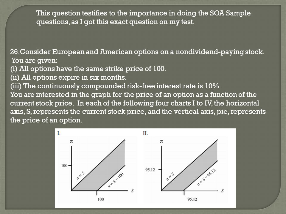 This question testifies to the importance in doing the SOA Sample questions, as I got this exact question on my test.
