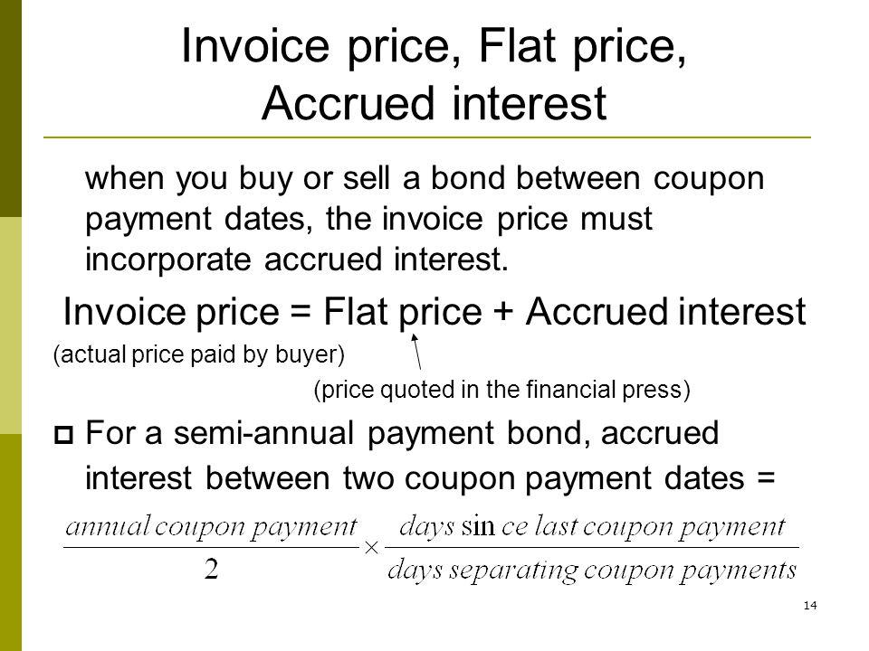 Invoice price, Flat price, Accrued interest