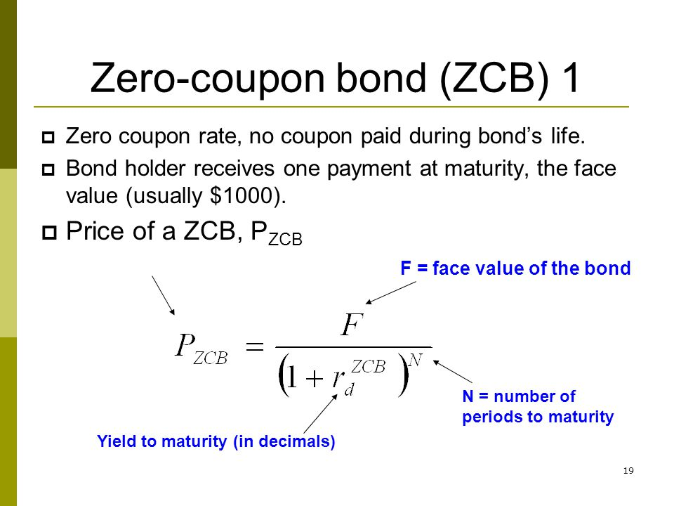 Zero-coupon bond (ZCB) 1