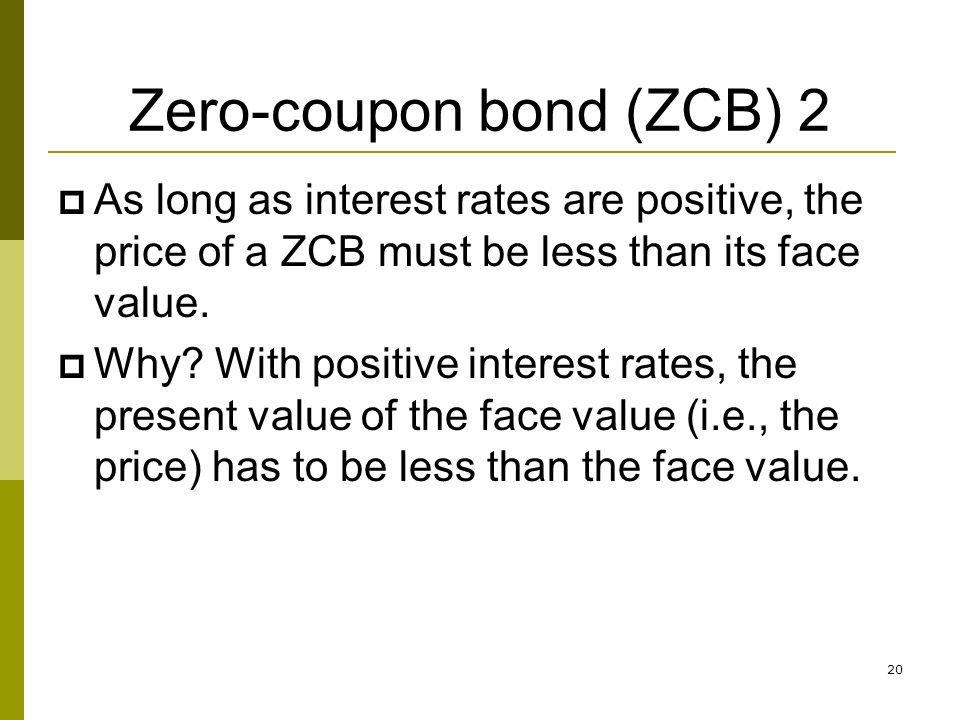 Zero-coupon bond (ZCB) 2