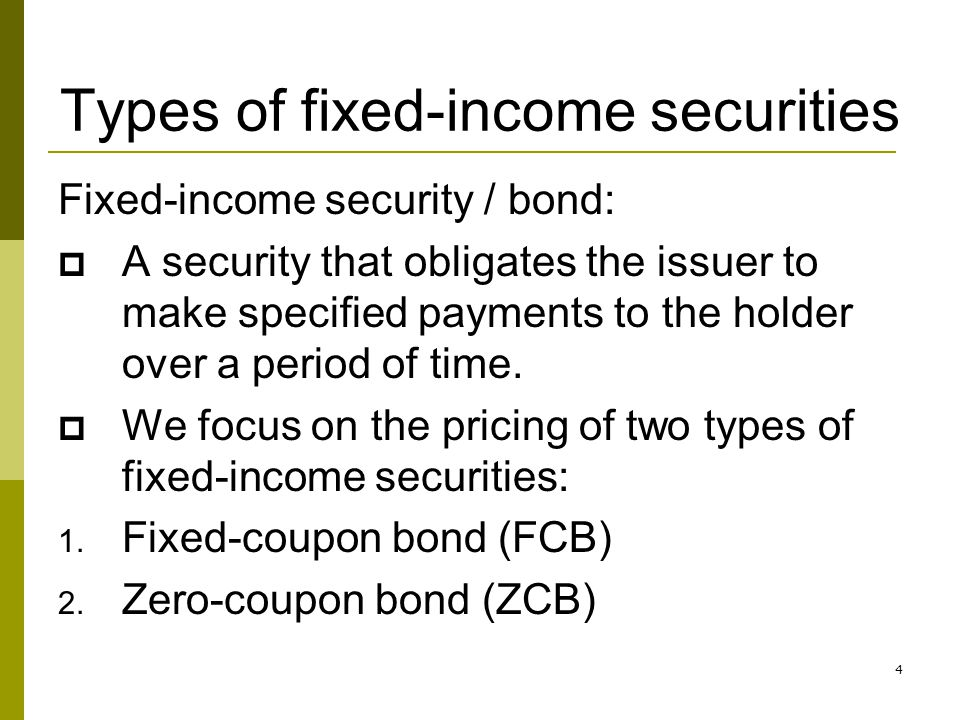 Types of fixed-income securities