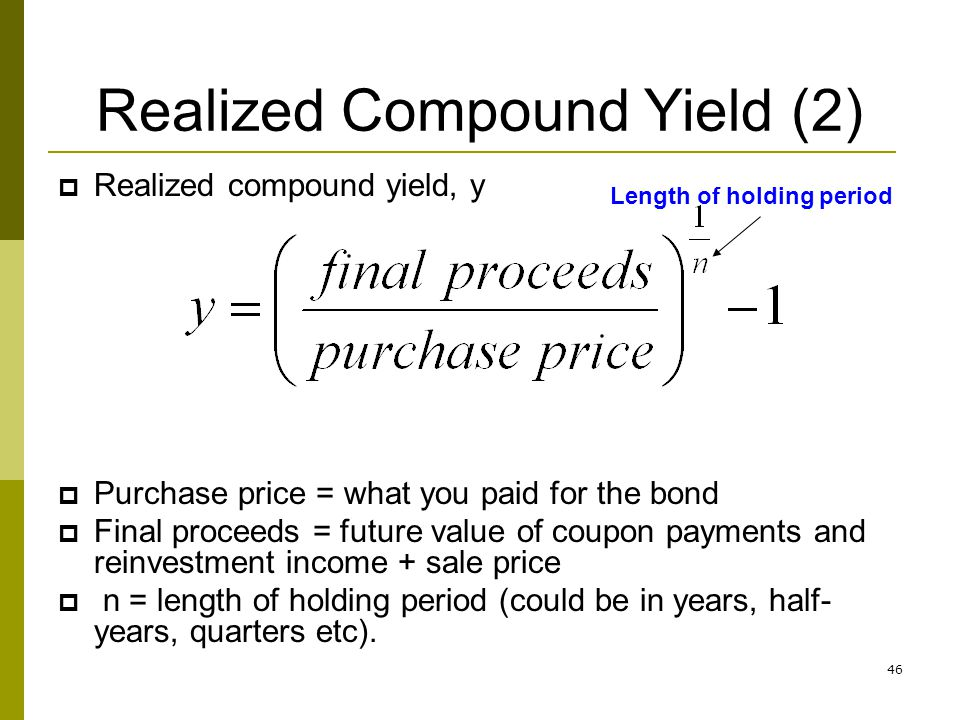 Realized Compound Yield (2)