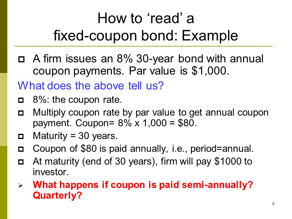 How to 'read' a fixed-coupon bond: Example