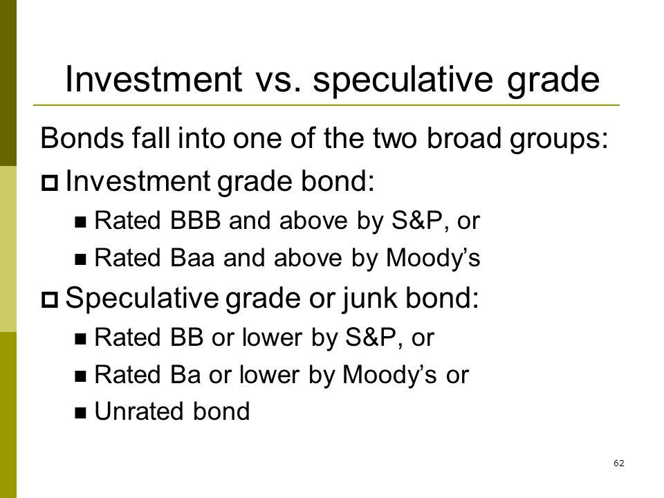 Investment vs. speculative grade