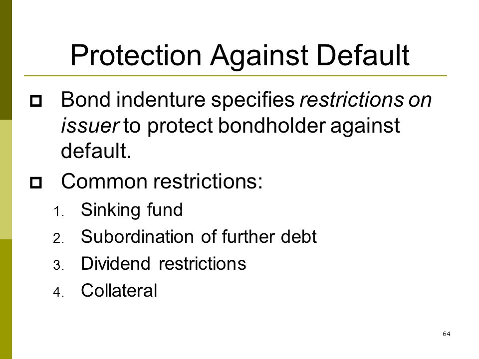 Protection Against Default
