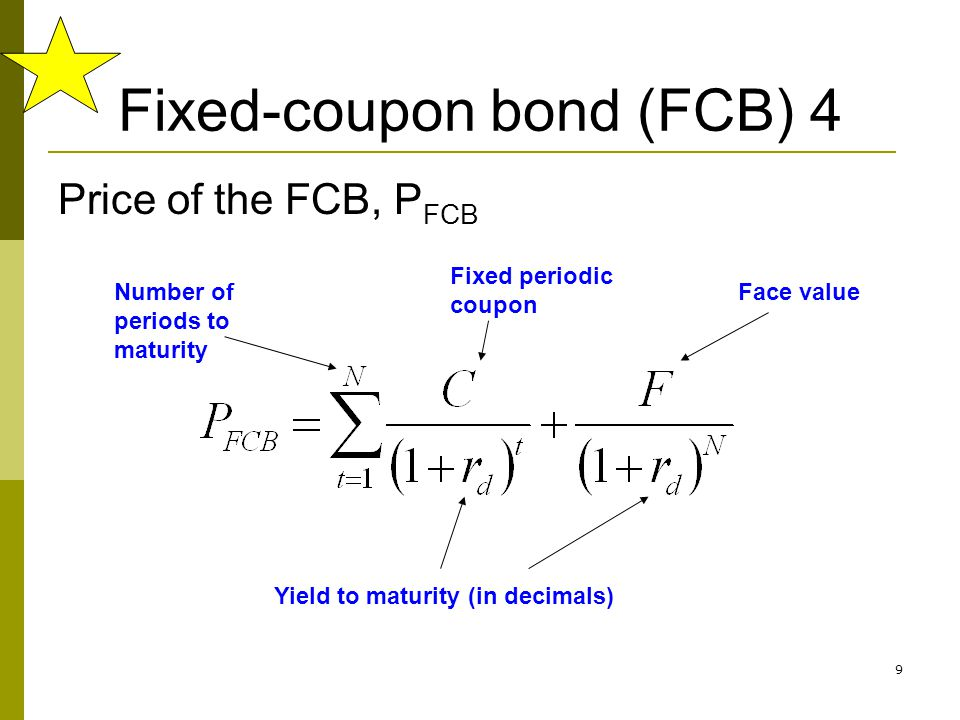 Fixed-coupon bond (FCB) 4