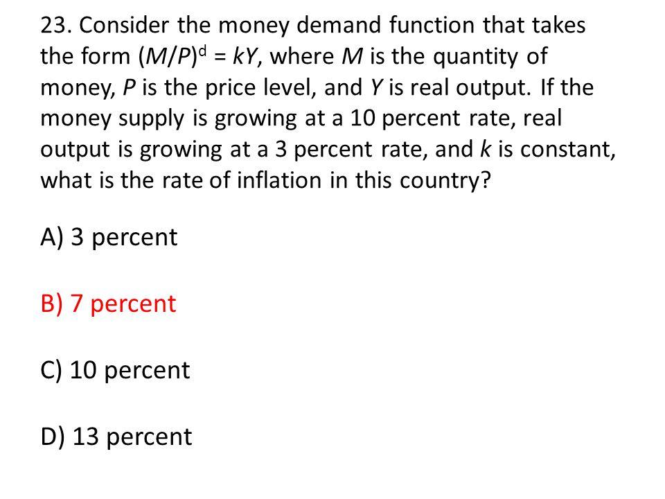 A) 3 percent B) 7 percent C) 10 percent D) 13 percent