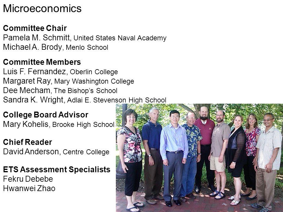 Microeconomics Committee Chair Pamela M