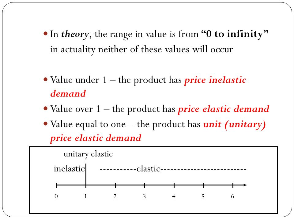 In theory, the range in value is from 0 to infinity