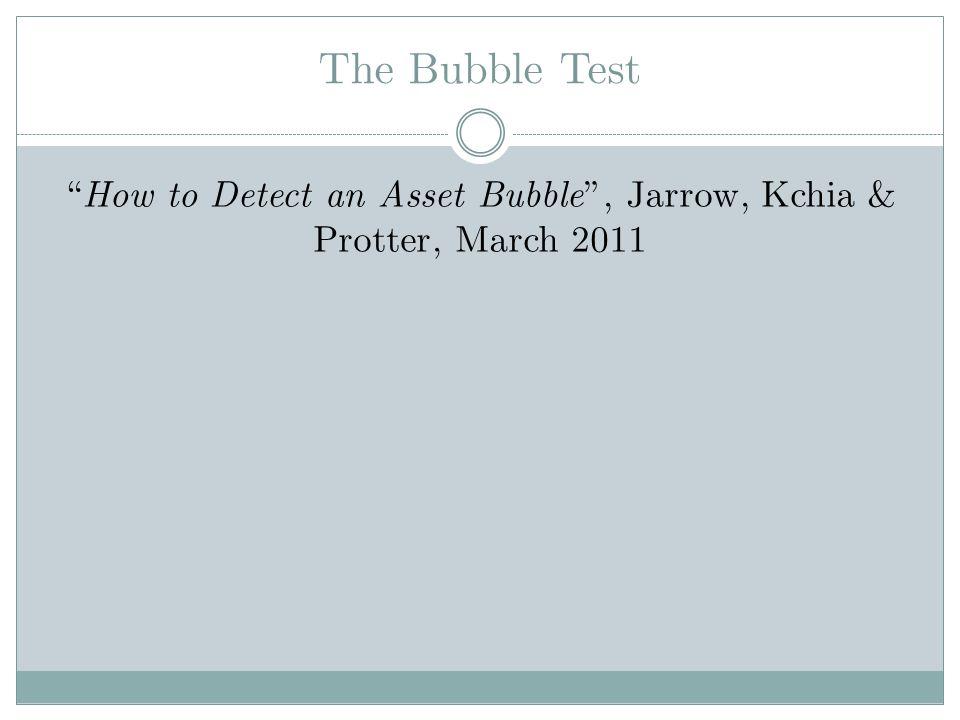 How to Detect an Asset Bubble , Jarrow, Kchia & Protter, March 2011