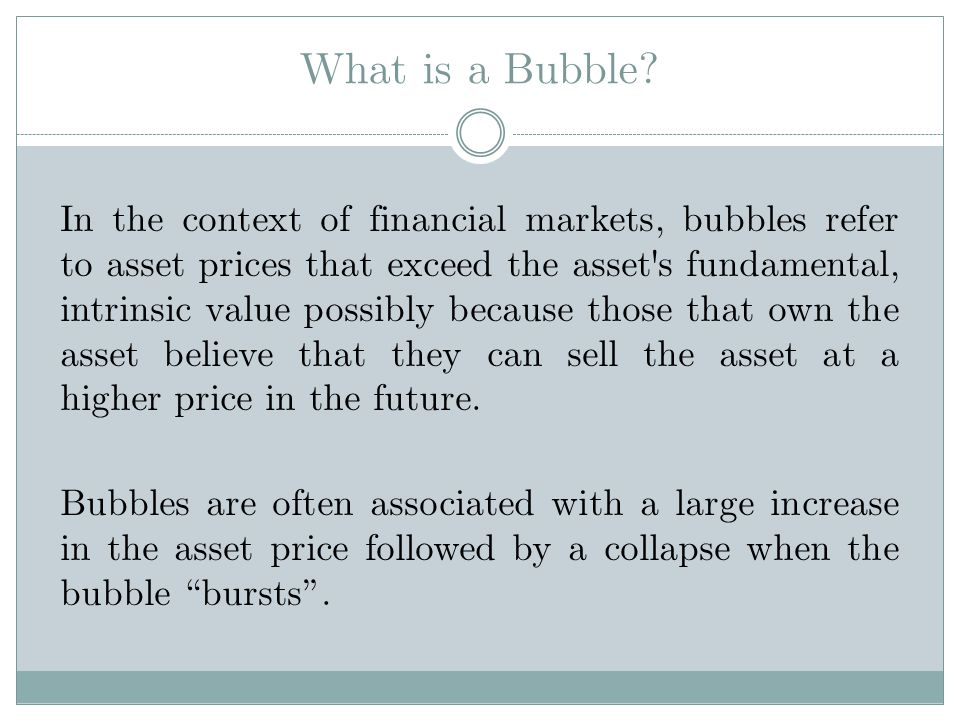 What is a Bubble