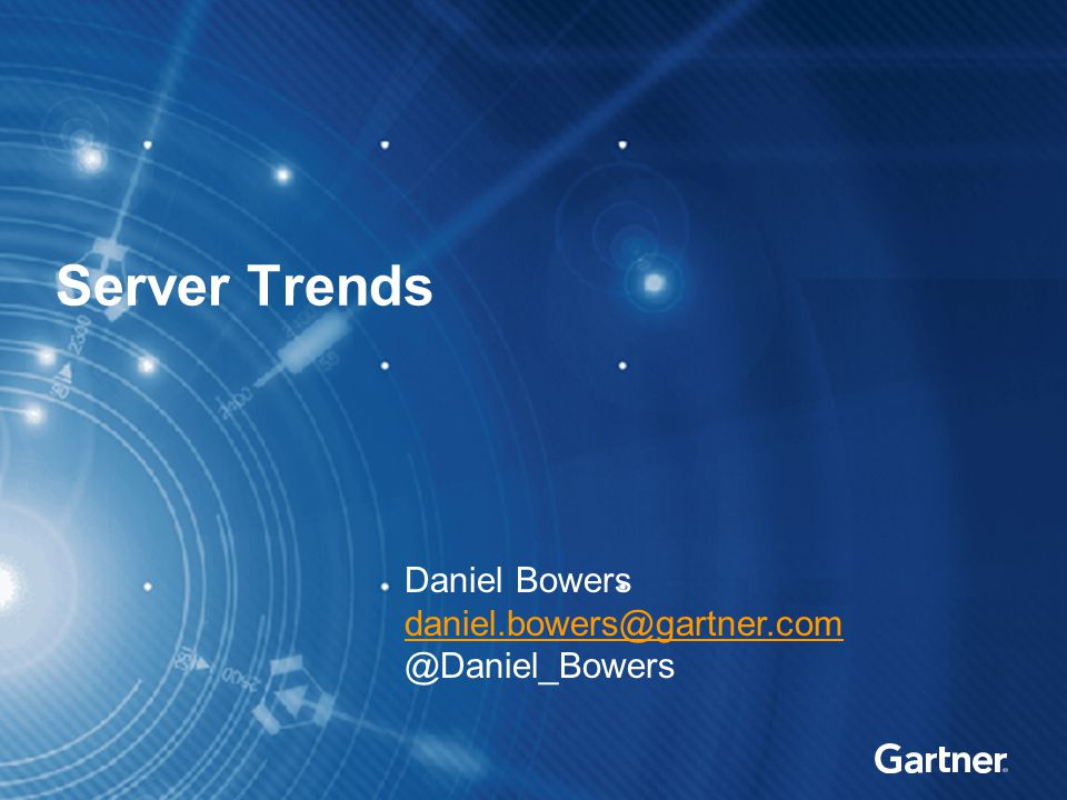Agenda Server Trends Performance Power Efficiency Price