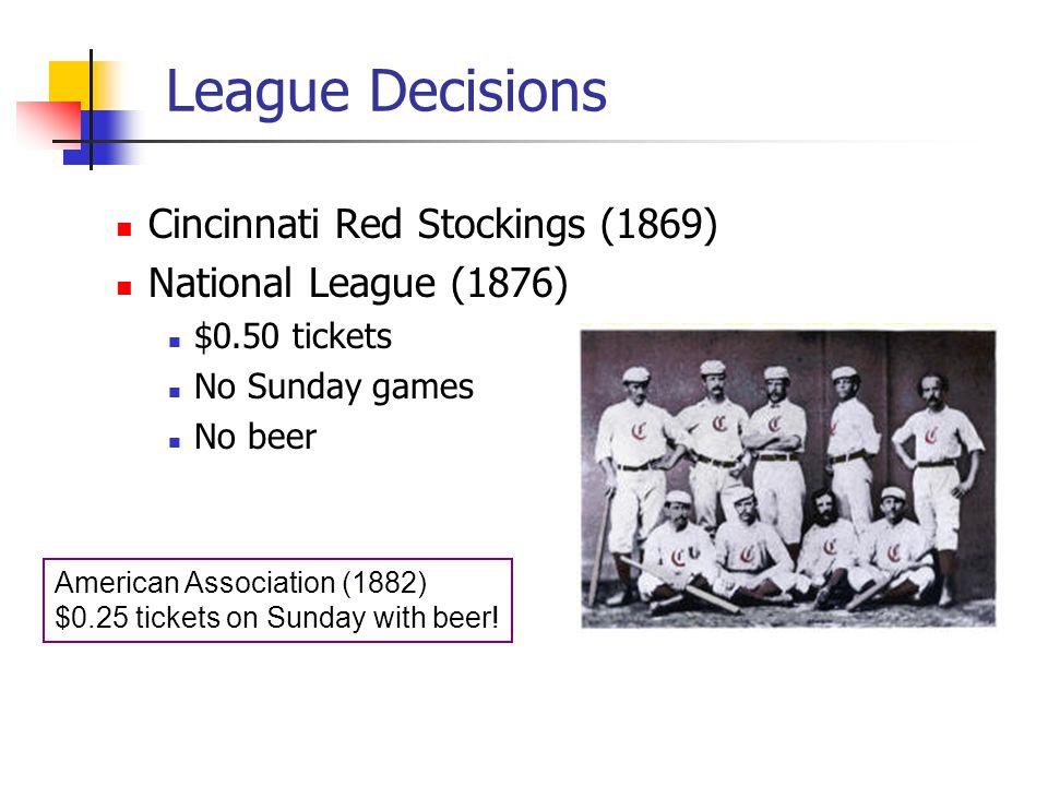 League Decisions Cincinnati Red Stockings (1869)