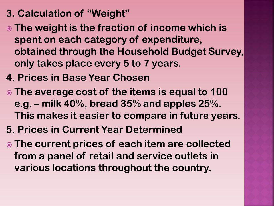 3. Calculation of Weight
