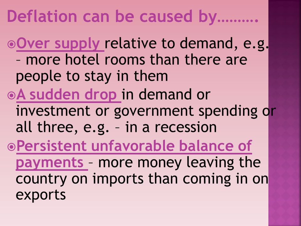Deflation can be caused by……….