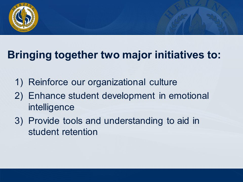 Bringing together two major initiatives to: