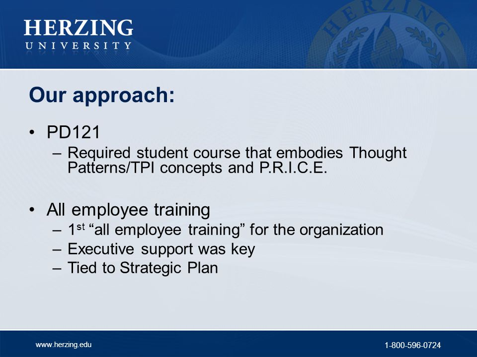 Our approach: PD121 All employee training
