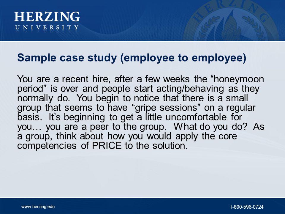 Sample case study (employee to employee)