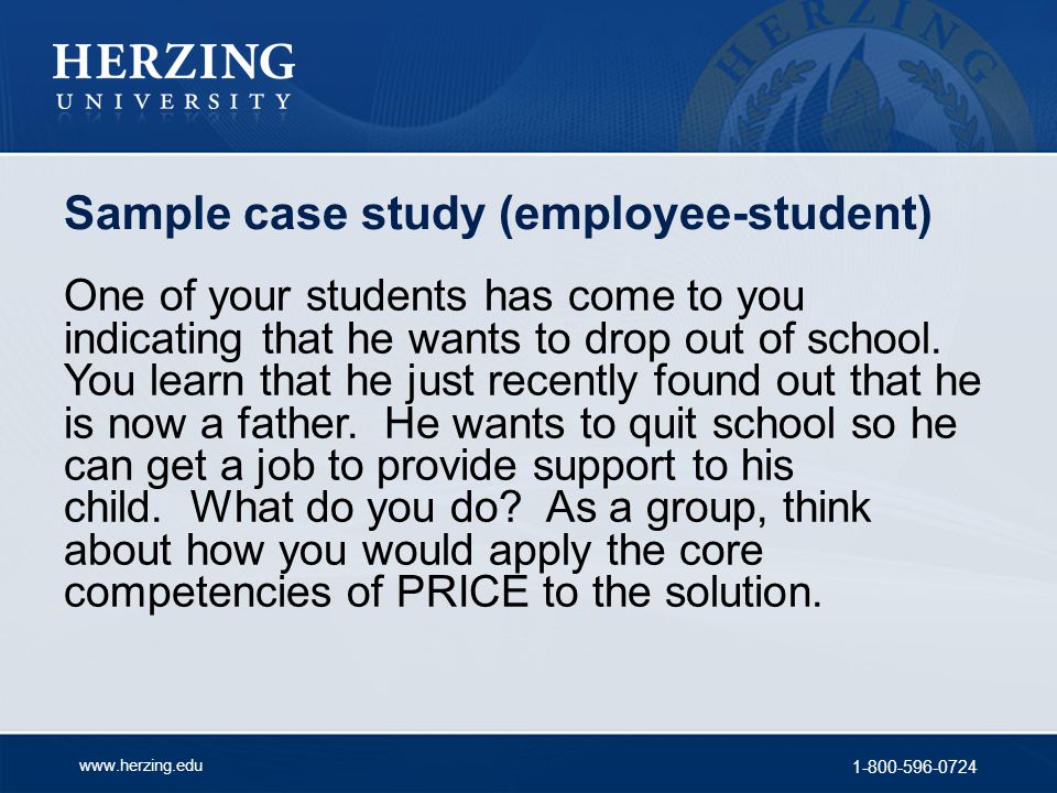 Sample case study (employee-student)