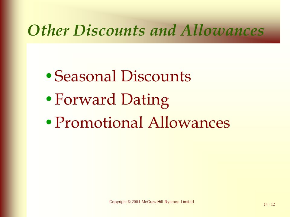 Other Discounts and Allowances
