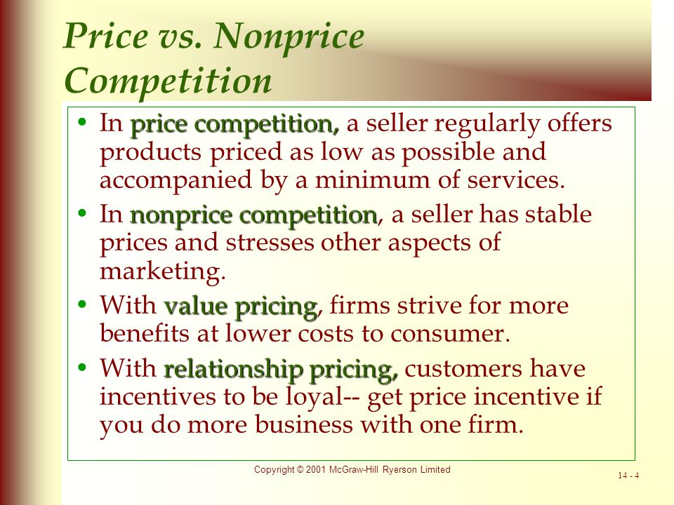 Price vs. Nonprice Competition