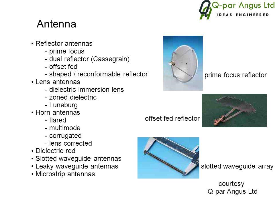 Antenna Reflector antennas prime focus dual reflector (Cassegrain)